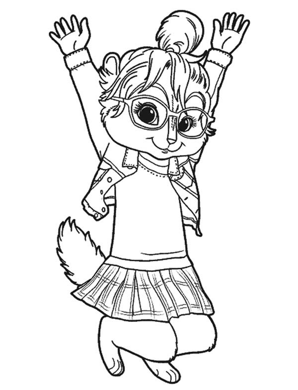 Brittany The Chipettes Jump Coloring Page Download Print Online Coloring Pages For Free Color Nimbus In 2020 Coloring Pages Alvin And The Chipmunks Chipmunks