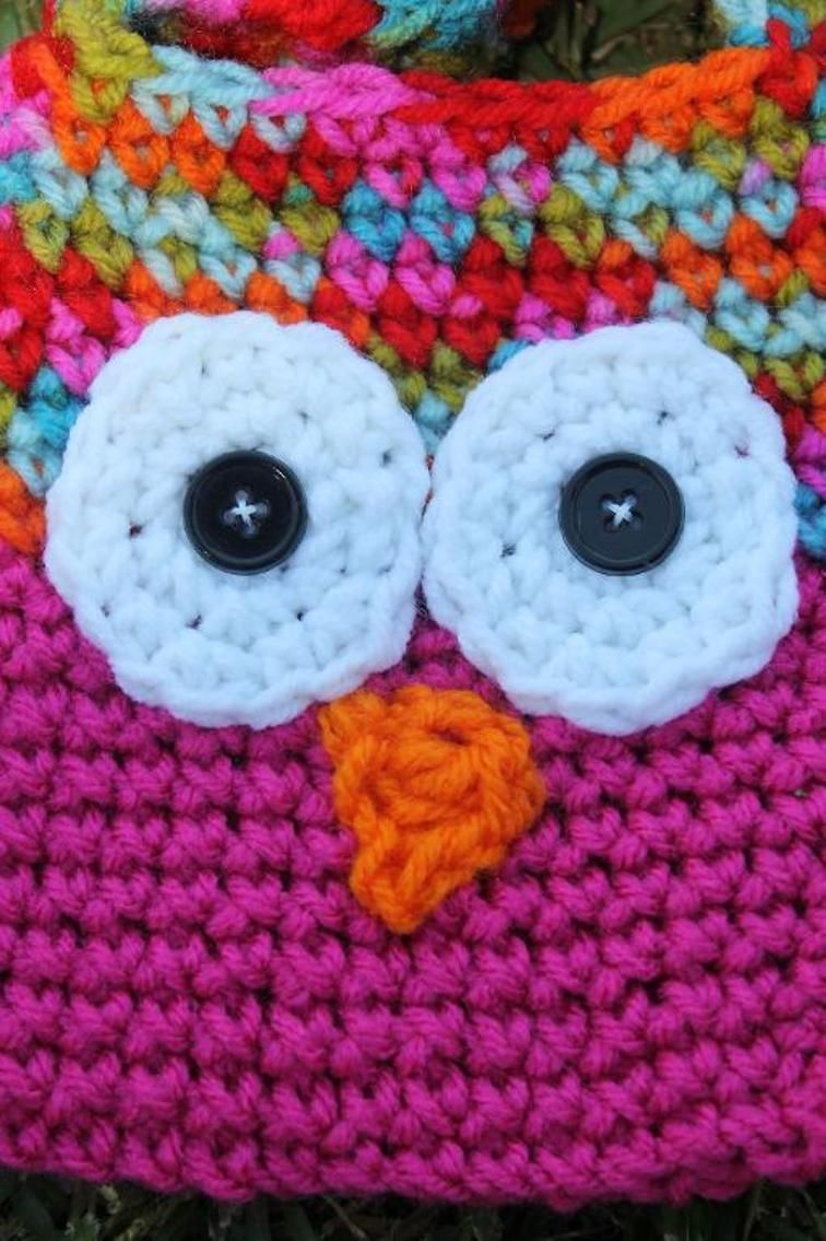 Kids crochet owl bags with strap kid bags and kids crochet kids crochet owl bags with strap bankloansurffo Image collections
