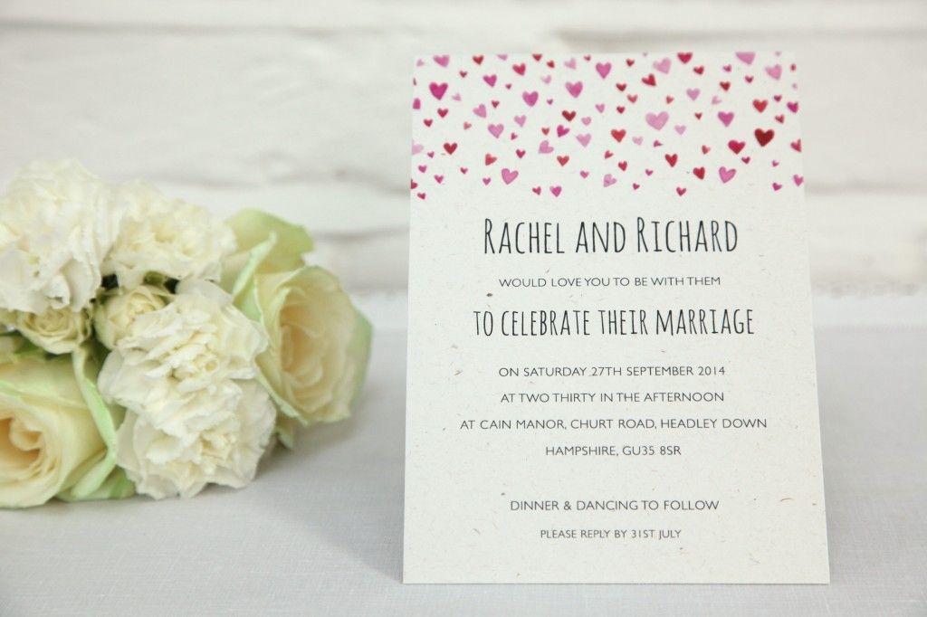 Confetti wedding invitation | Ivy Ellen Wedding Invitations ...
