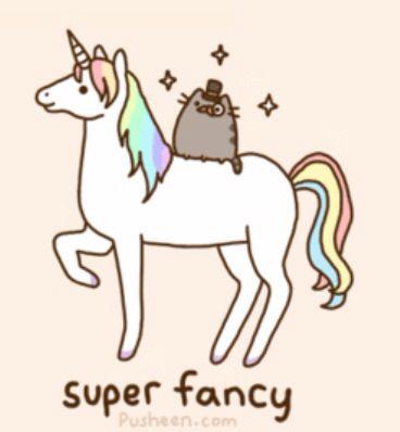 fancy pusheen on a unicorn pusheen cat pinterest pusheen