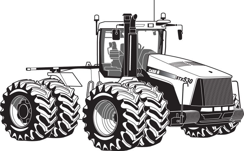 Tractor And Trailer Coloring Pages