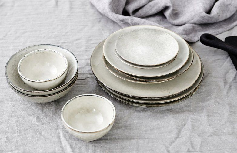 Sand-colored series of ceramic tableware from Danish Broste Copenhagen. Each product is unique & Sand-colored series of ceramic tableware from Danish Broste ...