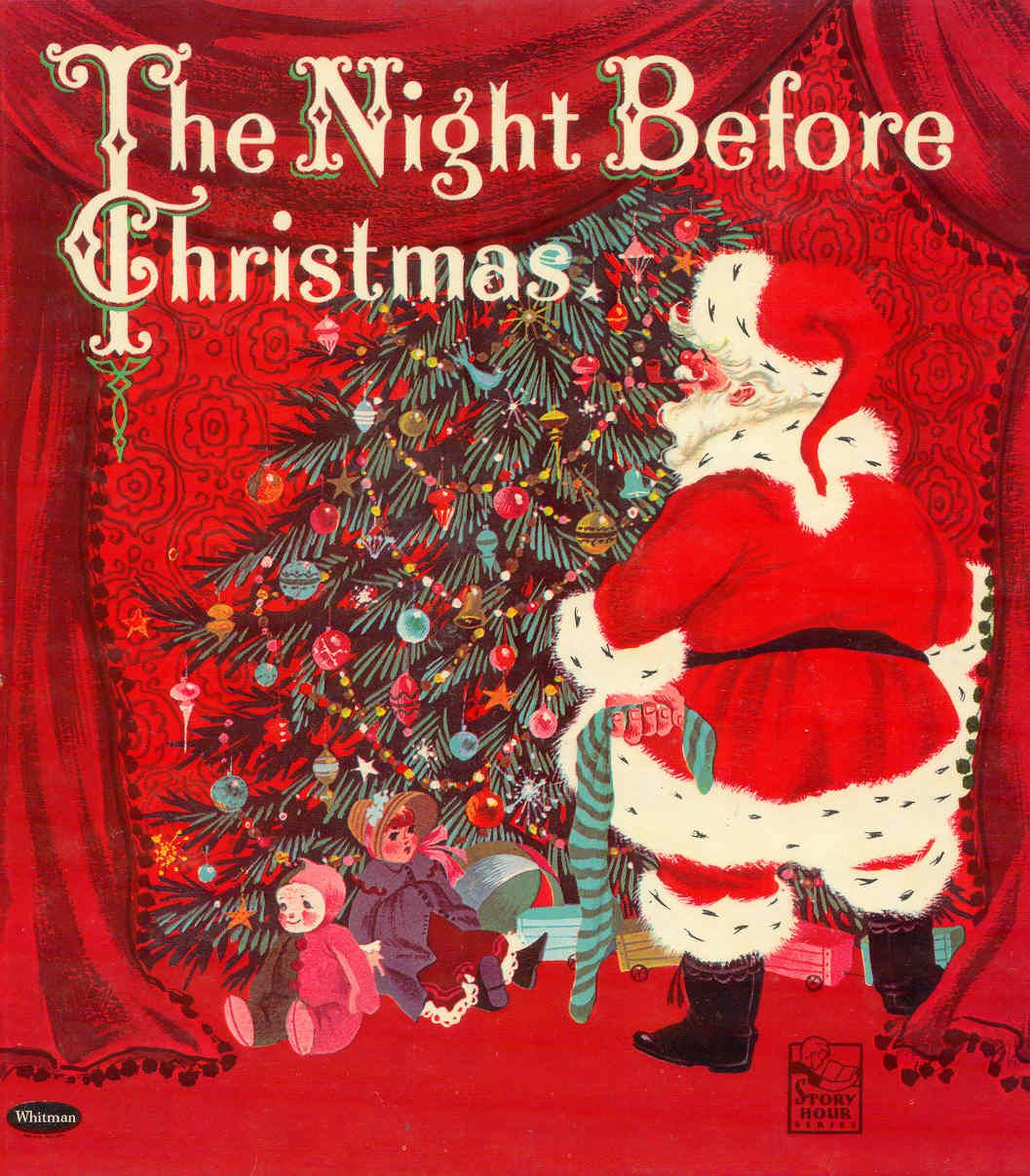 """""""The Night Before Christmas"""" illustrated by Catherine Barnes, 1960 (http://goldcountrygirls ..."""