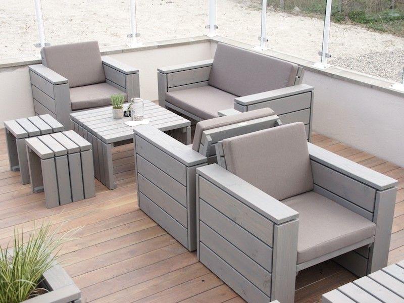Strand-Café  - loungemobel garten grau