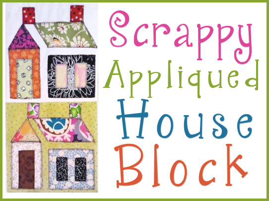 Scrappy Appliqued House Block ,free patterns | Quilts For All ... : quilt house patterns - Adamdwight.com