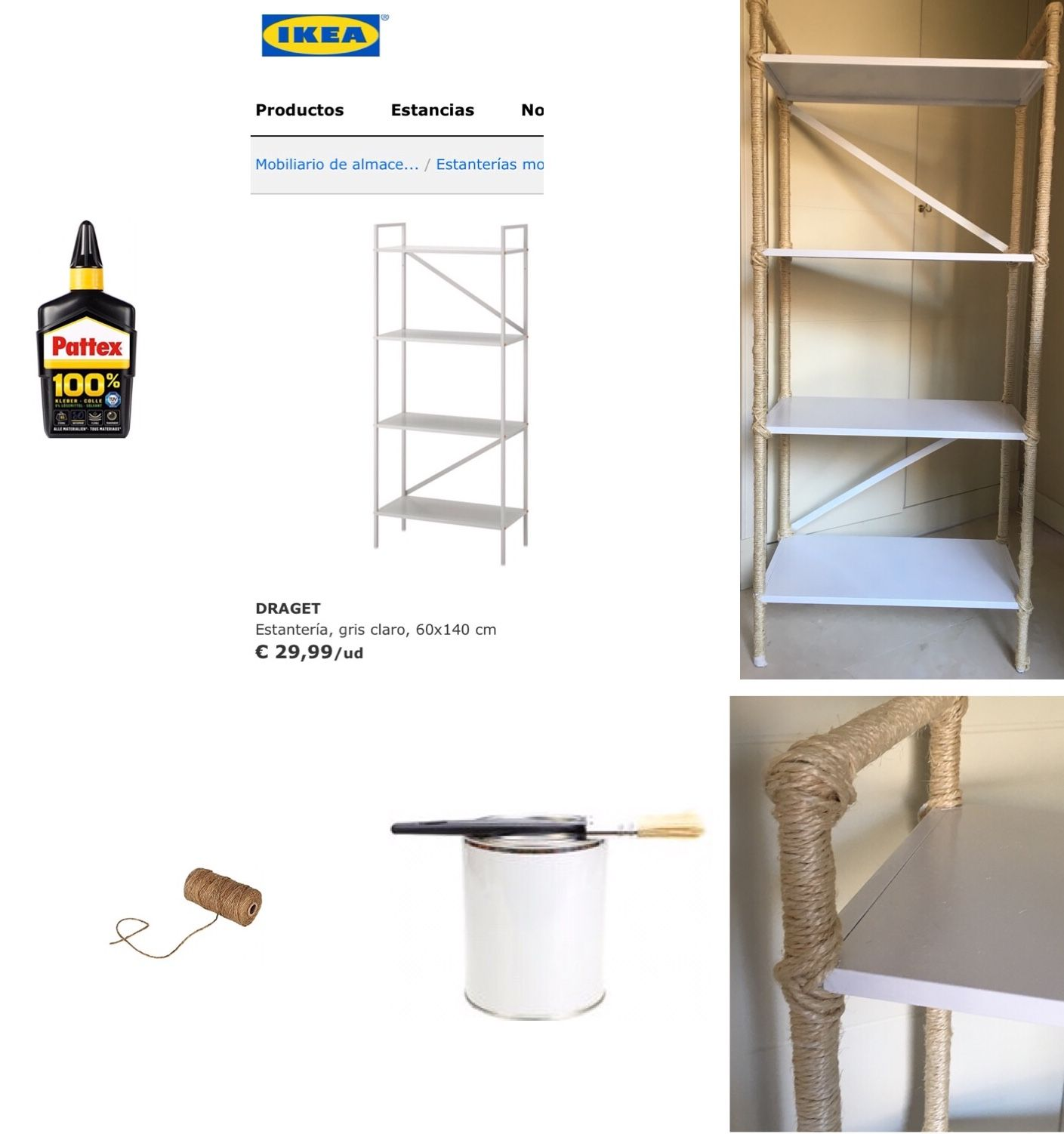 DIY Shelving Unit Update Project Difficulty Level: 1/10