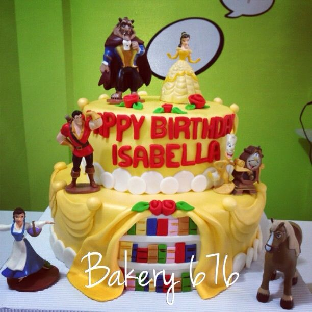 Cake Topper Disney La Bella Y La Bestia : La bella y la bestia pastel / beauty and the beast cake ...