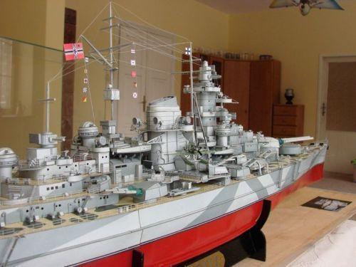 Details about 070 126cm Tirpitz German Navy Bismarck-class