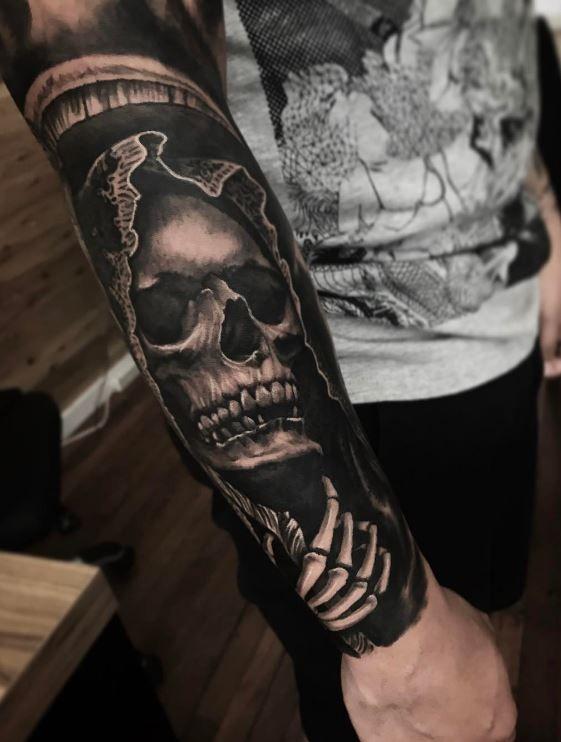 957f3739a Grim Reaper Tattoo | Skull Tattoos | Grim reaper tattoo, Skull ...