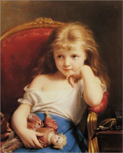Zuber-Buhler-Fritz-Young-Girl-Holding-A-Doll