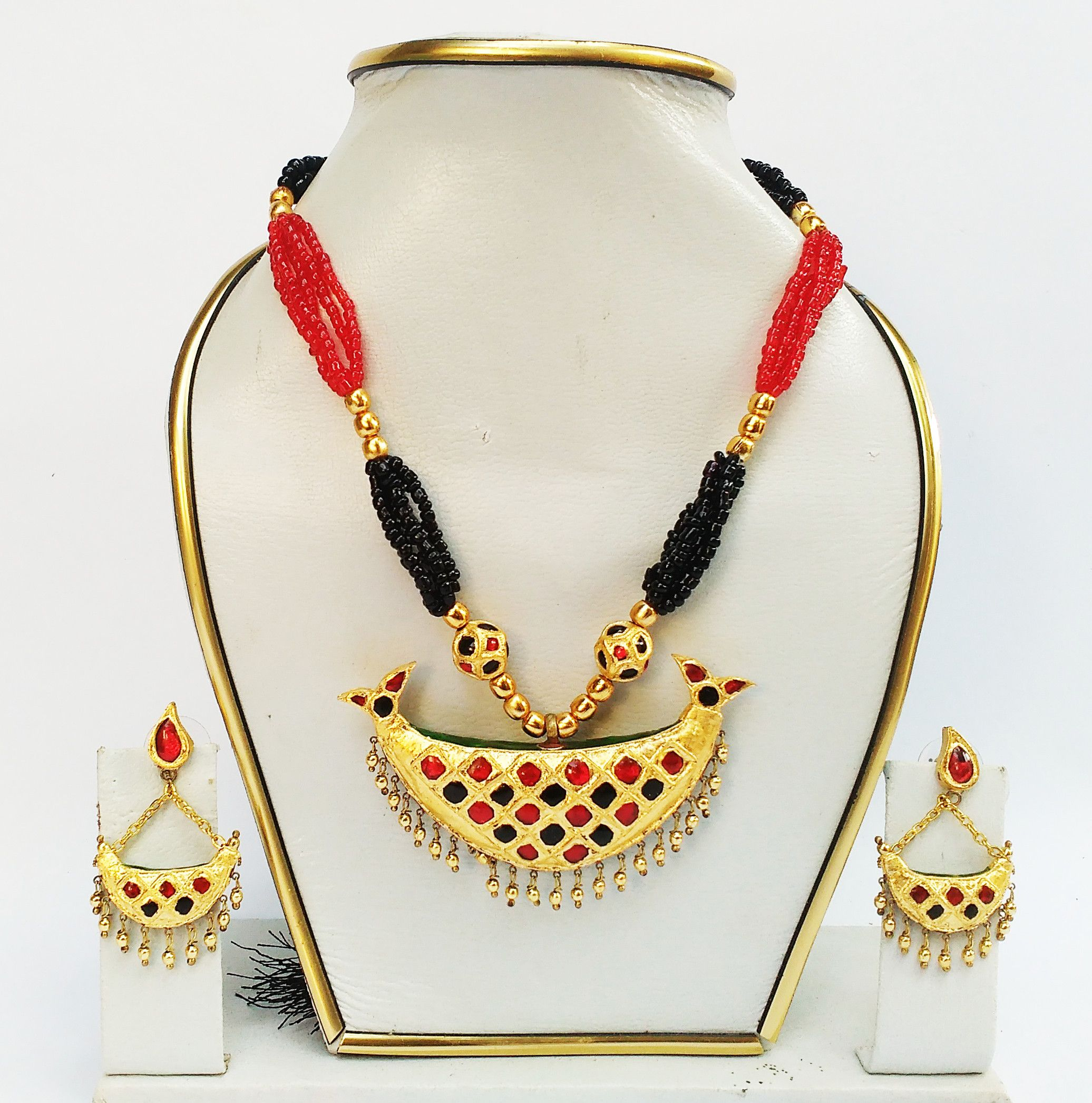 Jewellery & Watches Fashion Jewellery Indian Women Silver Oxidized Peacock Necklace Set Fashion Jewelry Bihu Trible