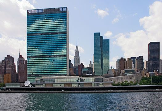 Un nyc united nations headquarters on the east river in new york pictures