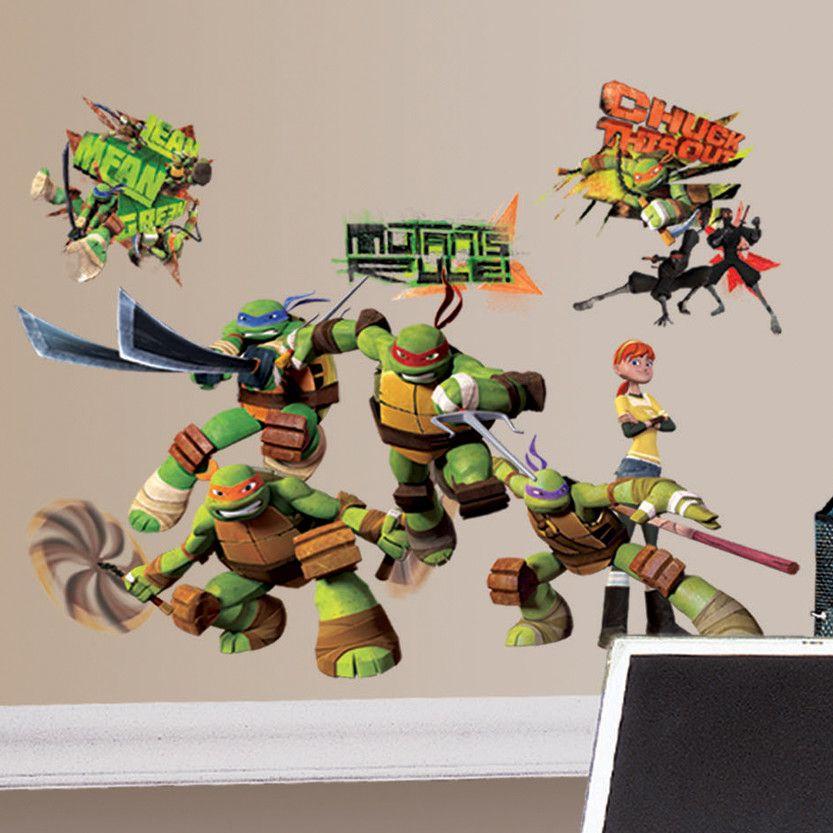 Ninja Turtles Slaapkamer.Teenage Mutant Ninja Turtles Wall Decal Teenage Mutant Ninja Turtles