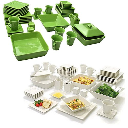 10 Strawberry Street Nova Square Banquet 90 Piece Mix And Match Dinnerware Set All