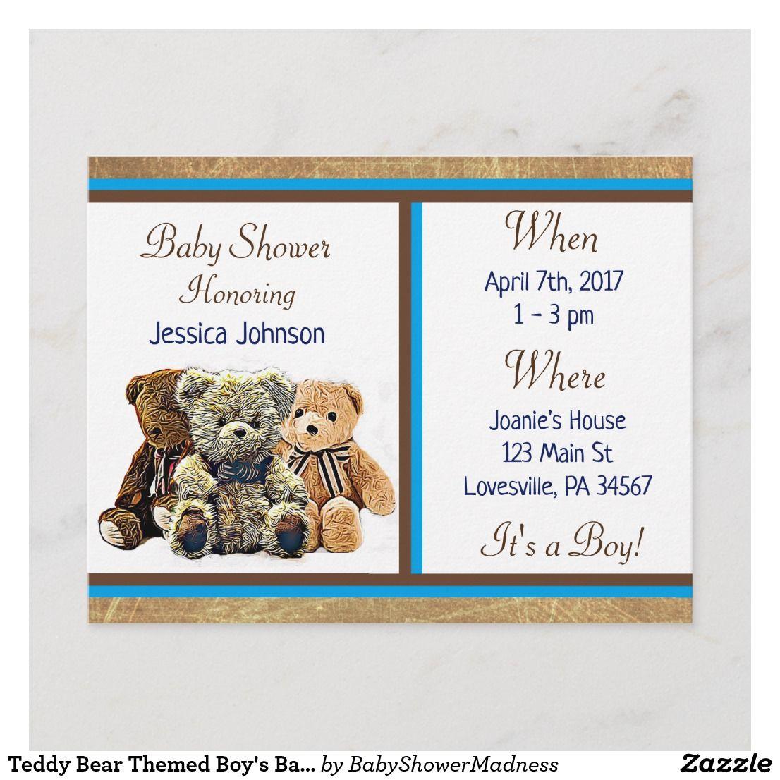 Teddy Bear Themed Boy S Baby Shower