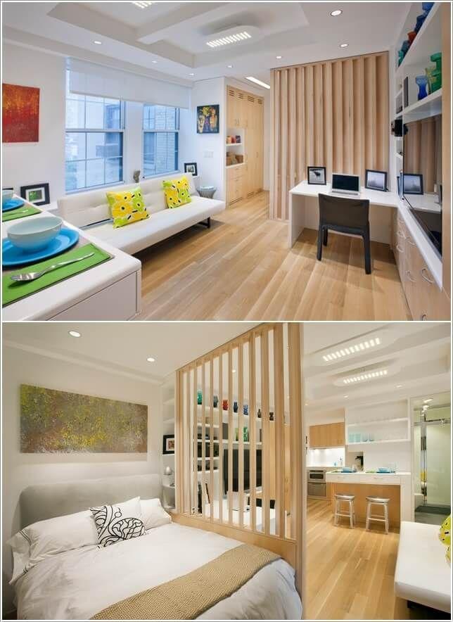 10 Ideas For Room Dividers In A Studio Apartment Studio Apartment Decorating Small Room Design Condo Interior