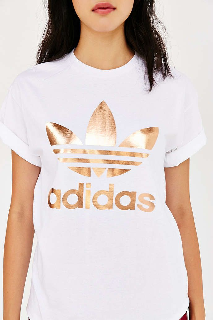 adidas rose gold trefoil