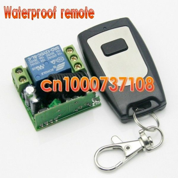 Free Shipping 12v 1ch Rf Wireless Remote Control Light Door Switch System Transmiter Receiver Smart Home 315 433mhz Z Wave Affi Lights Lighting Garag