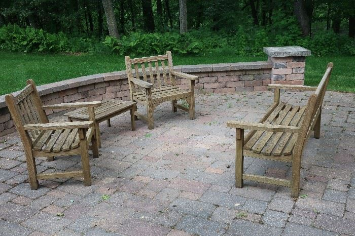 smith amp hawken teak patio furniture