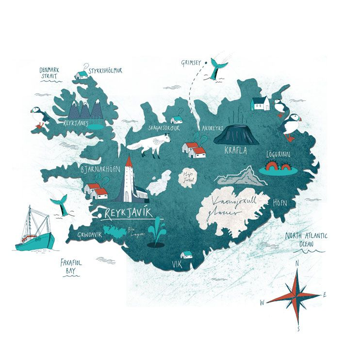 Iceland artsy pinterest iceland tonwen jones map of iceland gumiabroncs Images