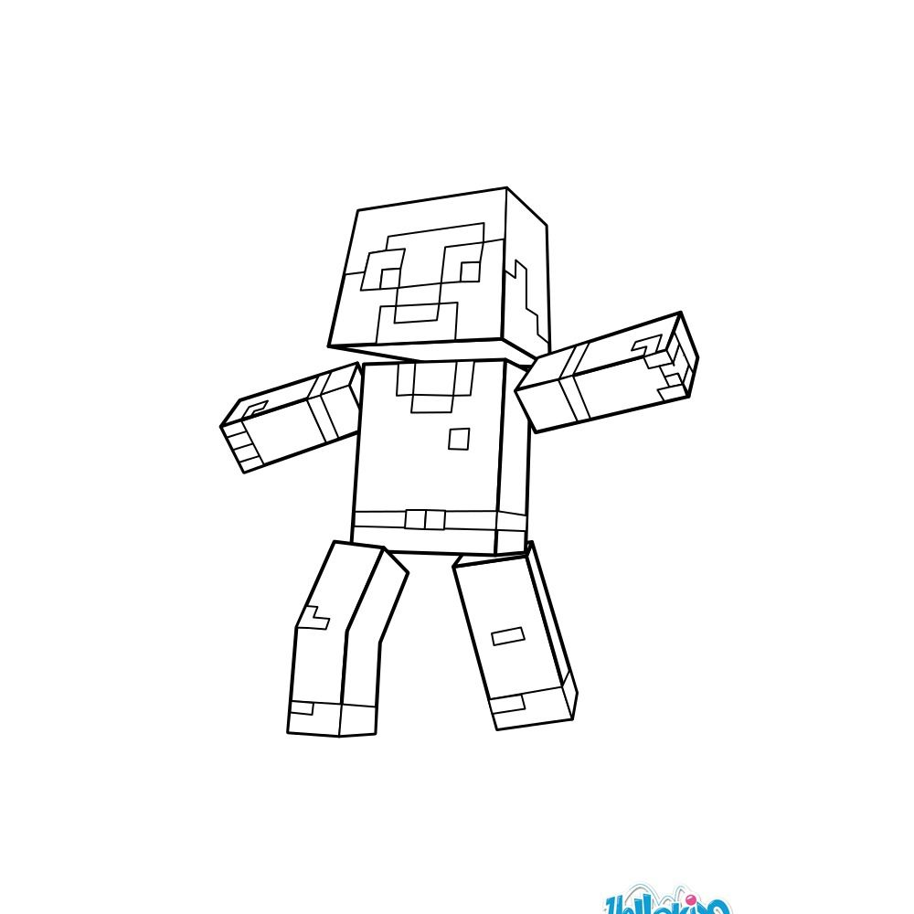Man Coloring Page From Minecraft Video Game More Video Games