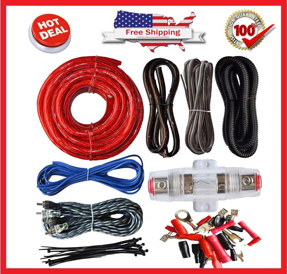 4 Gauge Cable Car Audio Kit Amp Amplifier Install Set