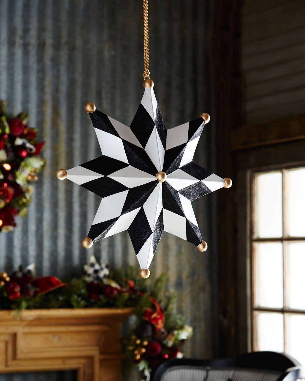 Diy outdoor christmas decorations  MacKenzieChilds North Star Jumbo Christmas Ornament   Home