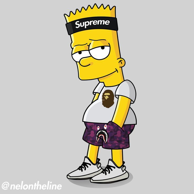 bart simpson hypebeasted supreme bape yeezyboost hypebeast coole ideen in 2018 pinterest. Black Bedroom Furniture Sets. Home Design Ideas