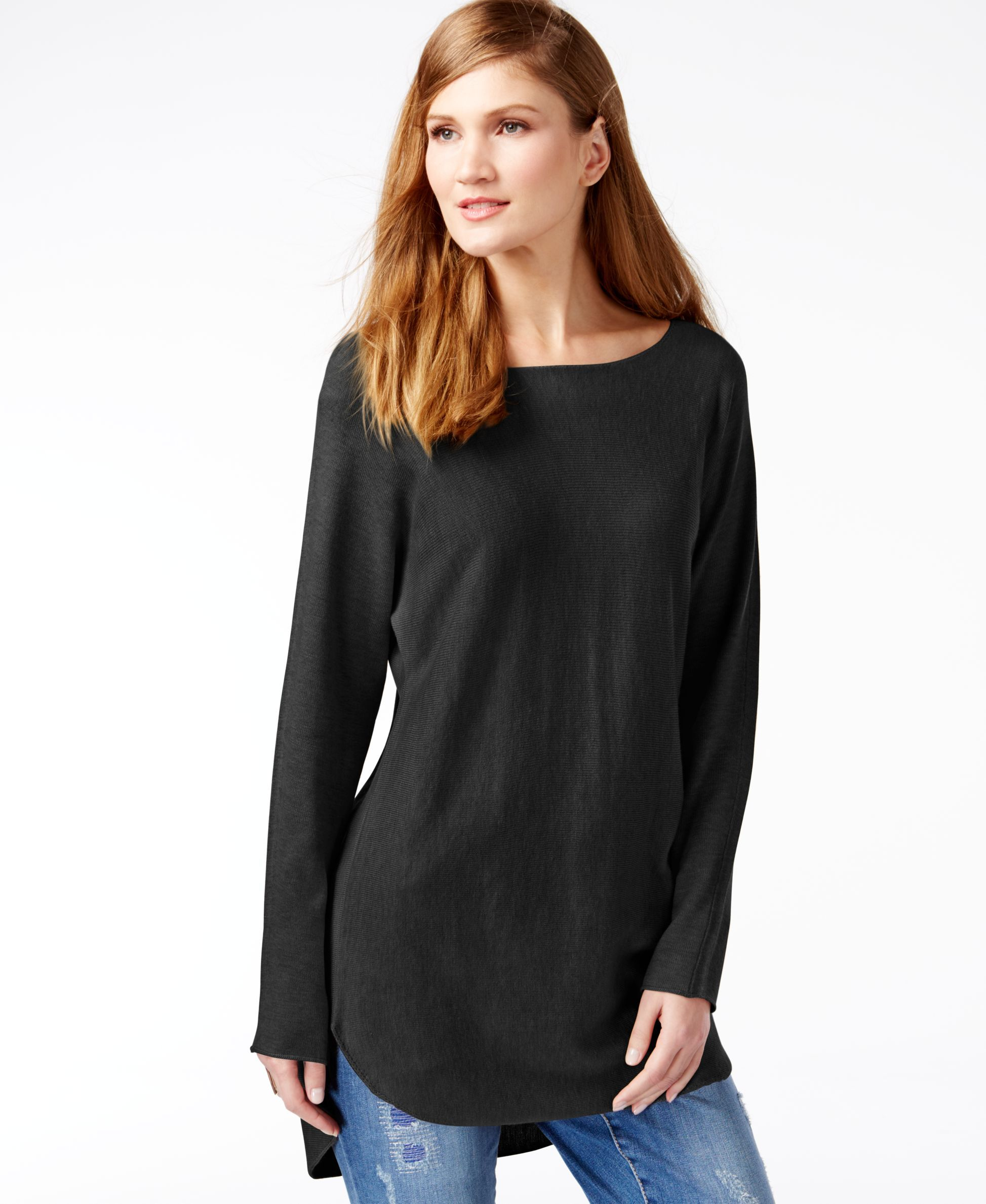 Inc International Concepts Petite Dolman-Sleeve Tunic Sweater ...