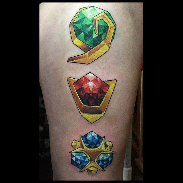 Ocarina Of Time Spiritual Stones Tattoos Zelda Tattoo Tattoos
