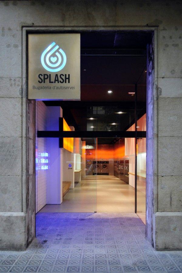 Not Your Average Laundromat At Barcelona S Splash Laundry Design Laundry Shop Laundromat