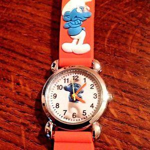 New Orange Smurfs Silicone Girls Boys Watch 3 D | eBay
