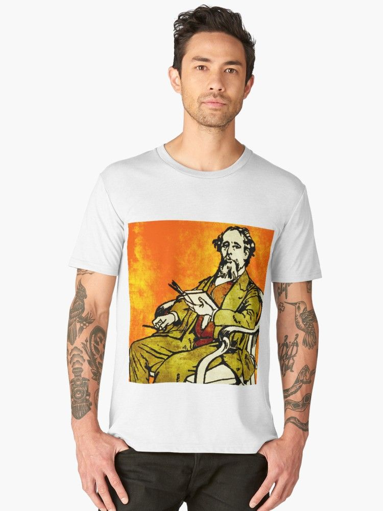 Charles Dickens Premium T Shirt By Impactees T Shirt Mens Tops