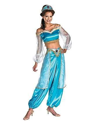 Womens Sassy Prestige Jasmine Costume  sc 1 st  Pinterest & Jasmine Sassy Prestige Disney Princess Adult Womens Aladdin ...