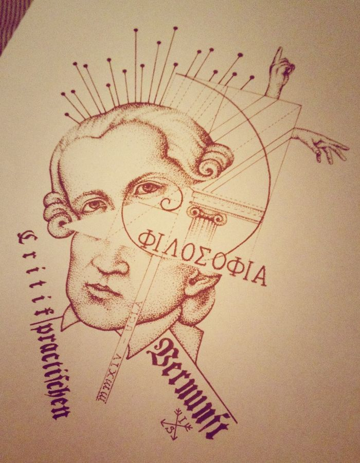 Immanuel kant and the stoics philosophy dotwork tattoo for Philosophy tattoos tumblr
