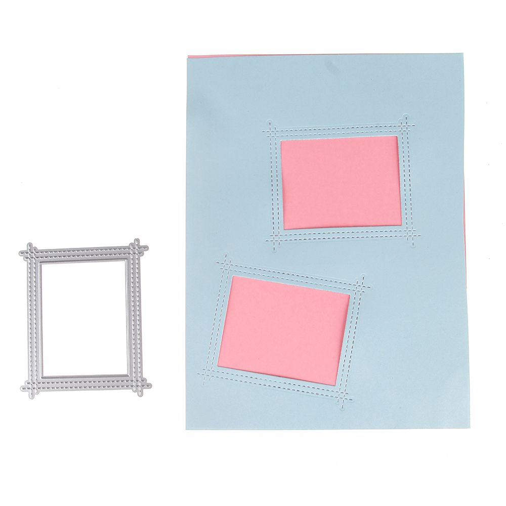 Outside In Stitched Rectangle Stackables Metal Die Cutting Dies For Diy Scrapboo