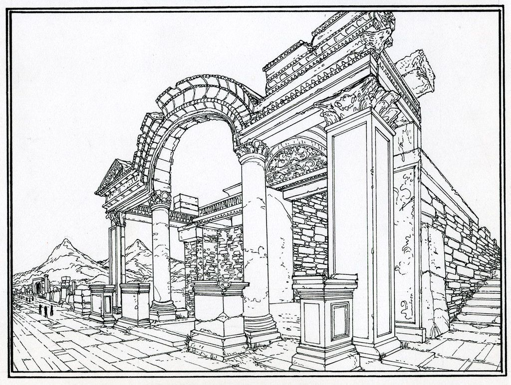 It is a photo of Candid ancient roman coloring pages