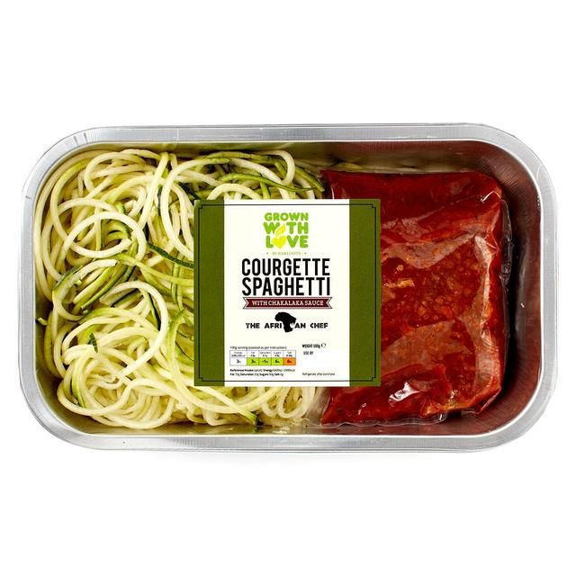 Very excited to announce that we've partnered with the The African Chef to bring you Grown With Love Courgette Spaghetti with his amazing Chakalaka Sauce, now available in @ocado!