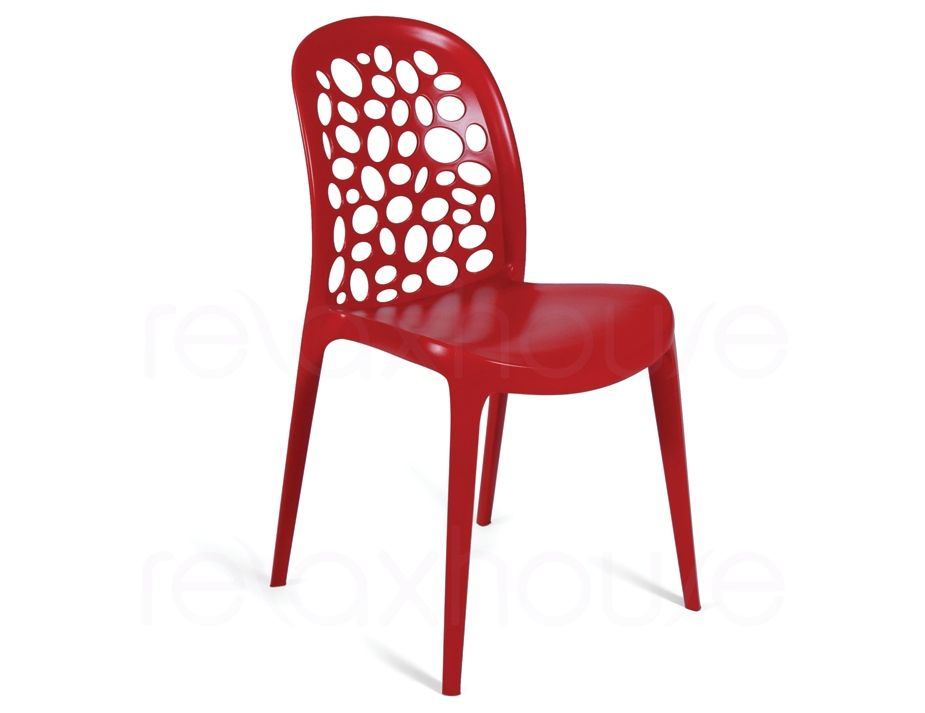 Captivating Red Plastic Cafe Chair   Replica Lovegrove Supernatural Chair   Outdoor  Chair $65 Amazing Ideas