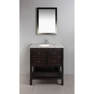 30 Bathroom Vanity Drawers wyndenhall new haven espresso brown 2-drawer 30-inch bath vanity