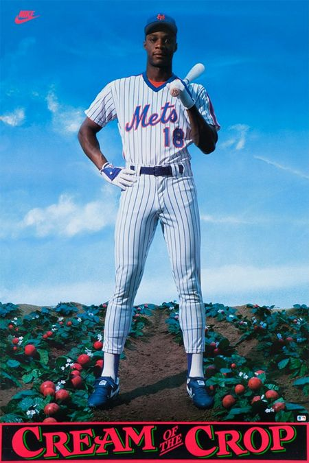 Darryl Strawberry New York Mets Baseball Nike Poster Mets Baseball