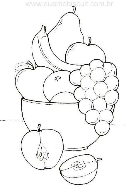 Laminas De Frutas Para Imprimir Y Pintar Bebeazul Top Fruit Coloring Pages Coloring Pages Basket Drawing
