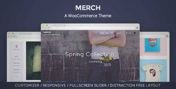 Download and review of Merch: A WooCommerce WordPress Theme, one of ...