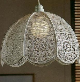 ergahandmade: Crochet Lampshade + Diagrams