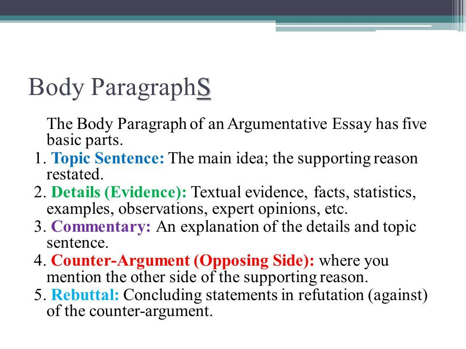 Paragraph Essays Examples  To Structure An Argument In Your