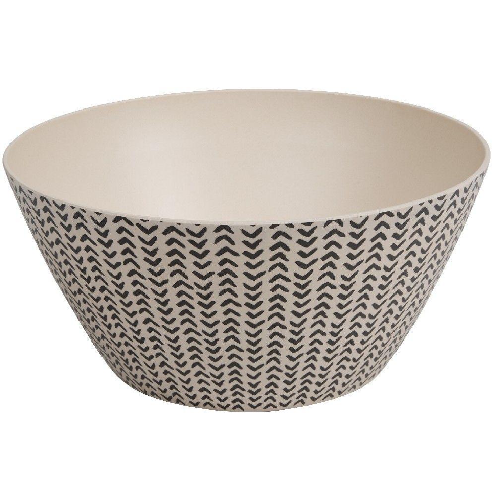 Saladier Decor Geometrique Noir Et Blanc Vaisselle En Plastique Decor Geometrique Couvert
