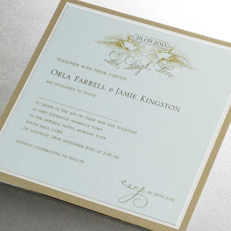 Live Laugh Love Wedding Invitation Finerdetails Ie