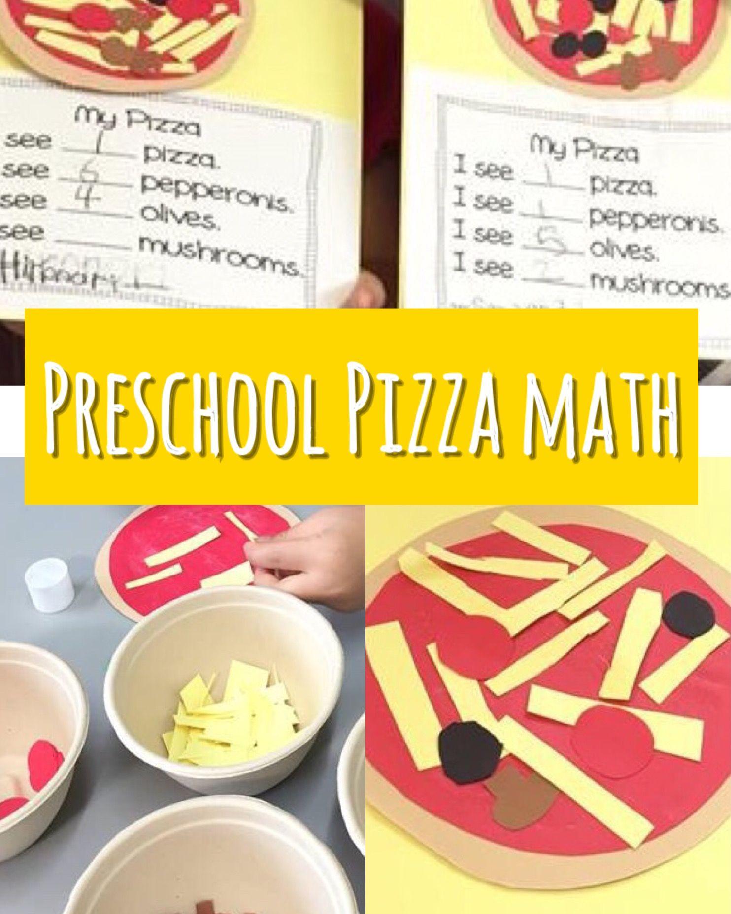 Hands On Activities For Preschoolers Pizza Math