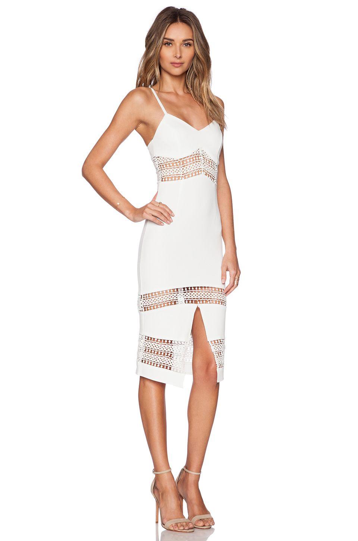 RISE OF DAWN Martini Midi Dress in White   REVOLVE
