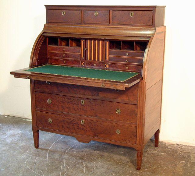 Price My Item: Value of Antique Period American Federal Cylinder Desk - Antique Desks Antique Period American Federal Cylinder Desk